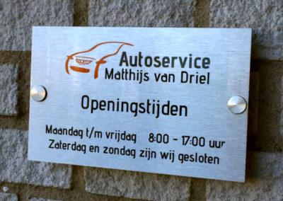 Openingstijden Autoservice Matthijs van Driel