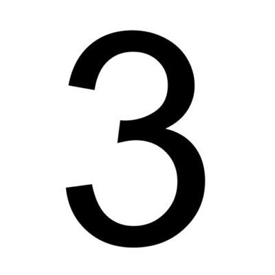 Drie - cijfer