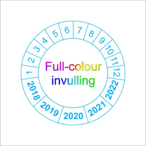 Full-colour- keuringssticker