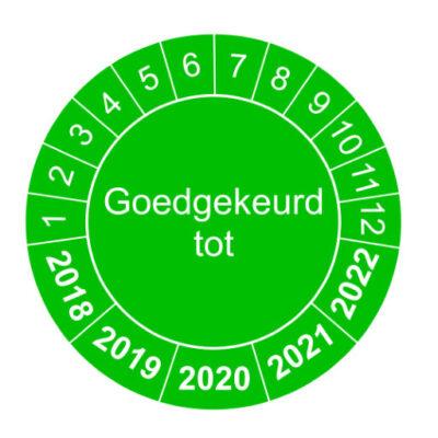Goed gekeurd tot - groen - versie 1 - keuringssticker