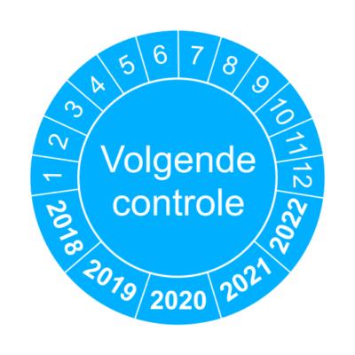 Volgende controle blauw - keuringssticker