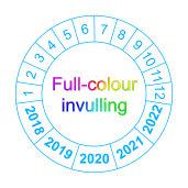 Volgende controle Full Colour Invulling - keuringssticker
