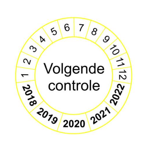 Volgende controle - gele rand versie 1 - keuringssticker
