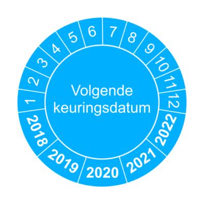 Volgende keuringsdatum blauw - keuringssticker