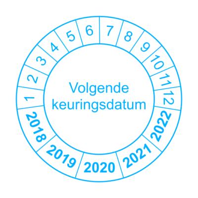 Volgende keuringsdatum - Blauwe Rand - keuringssticker