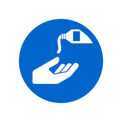 Gebruik Beschermende Creme - gebodssticker