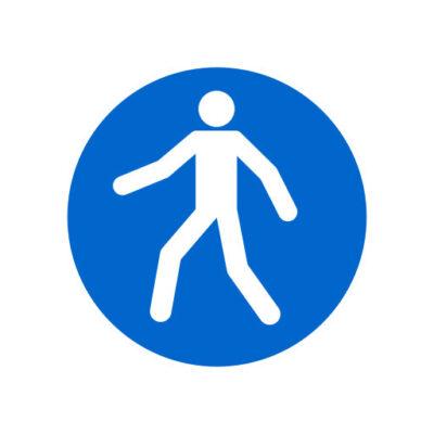 Gebruik De Voetgangersdoorgang - gebodssticker