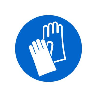 Handschoenen Verplicht - gebodssticker