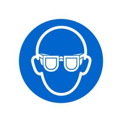Veiligheidsbril Verplicht - gebodssticker
