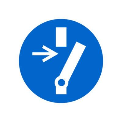 Vrijschakelen Voor Onderhoud Of Herstelling - gebodssticker
