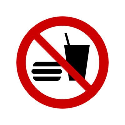 Eten En Drinken Verboden - verbodssticker