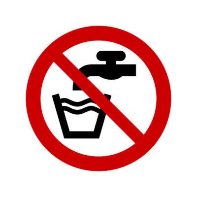 Geen Drinkwater- verbodssticker