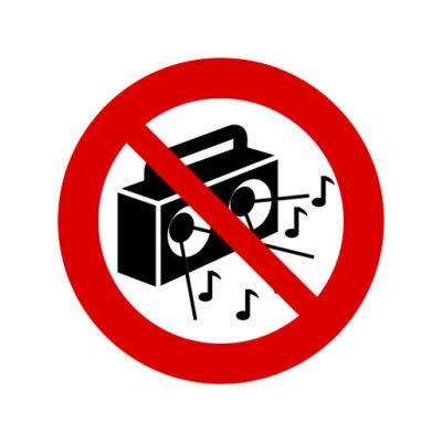 Harde Muziek Niet Toegestaan - verbodssticker