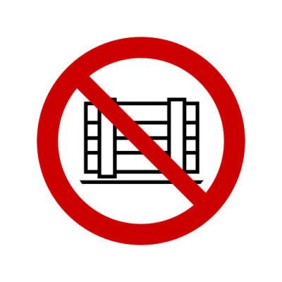 Neerzetten Of Opslaan Verboden - verbodssticker
