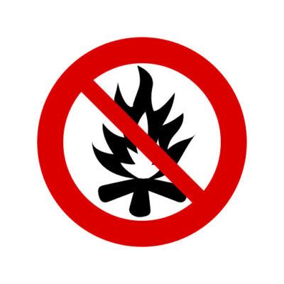 Open Vuur Verboden - verbodstickers