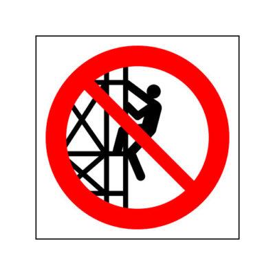 Verboden Het Object Te Beklimmen - verbodssticker