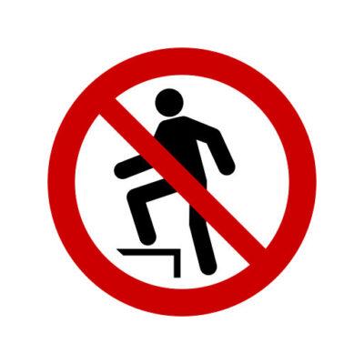 Verboden Het Oppervlak Te Betreden - verbodssticker