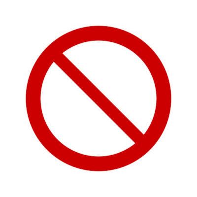 Verboden In Te Rijden - verbodssticker