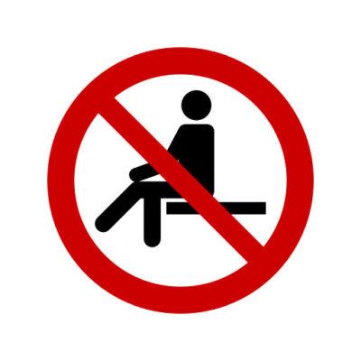 Verboden Op Te Zitten - verbodssticker