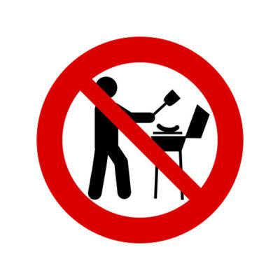 Verboden Te barbecueën - verbodssticker