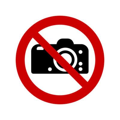 Verboden Te Fotograferen - verbodssticker