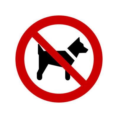 Verboden Voor Honden - verbodssticker