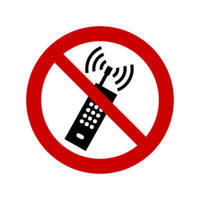 Verboden Voor Mobiele Telefoons - verbodssticker