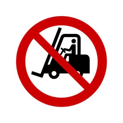 Verboden Voor Transsportvoertuigen - verbodssticker