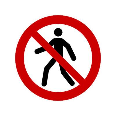 Verboden Voor Voetgangers - verbodssticker