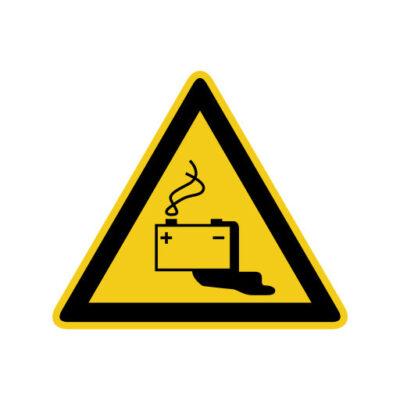 Accu - waarschuwingssticker