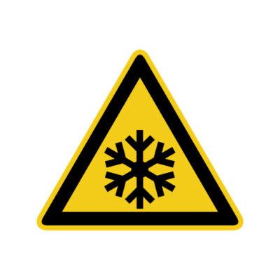 Bevriezingsgevaar - waarschuwingssticker