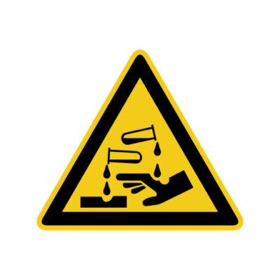 Bijtende Stoffen - waarschuwingssticker
