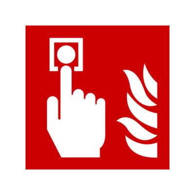 Brandalarm - waarschuwingssticker