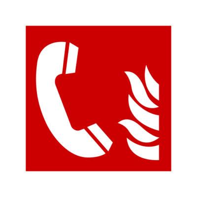 Brandalarm Telefoon - waarschuwingssticker