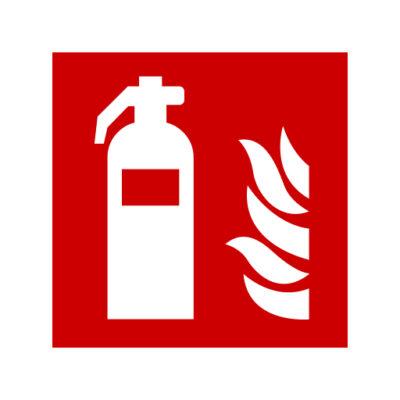 Brandblusser - waarschuwingssticker