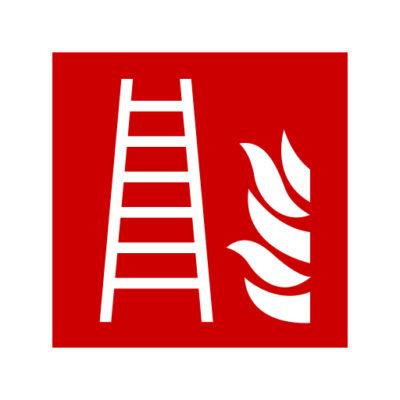 Brandladder - waarschuwingssticker