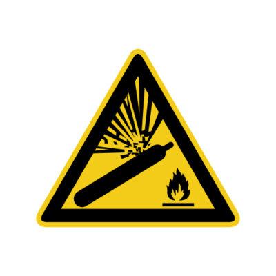 Cilinder Onder Druk - waarschuwingssticker