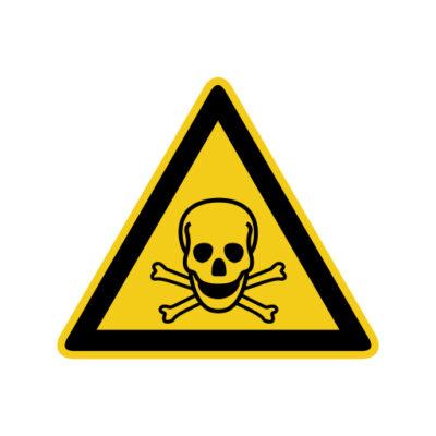 Giftige Stoffen - waarschuwingssticker