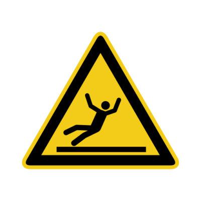 Glad Oppervlak - waarschuwingssticker