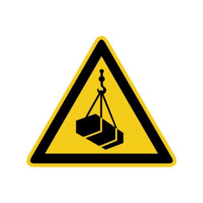 Hangende Lasten - waarschuwingssticker