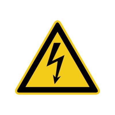 Hoogspanning - waarschuwingssticker