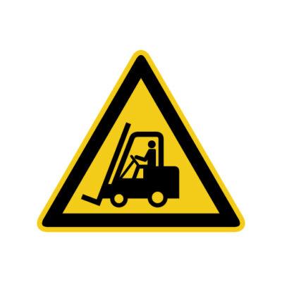 Industriële Voertuigen - waarschuwingssticker