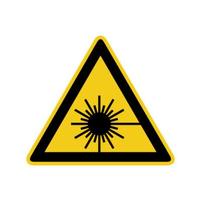 Laserstraling - waarschuwingssticker