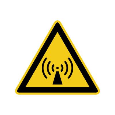 Niet Ioniserende Straling - waarschuwingssticker