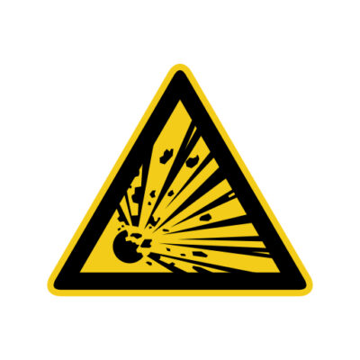 Ontploffingsgevaar - waarshuwingssticker