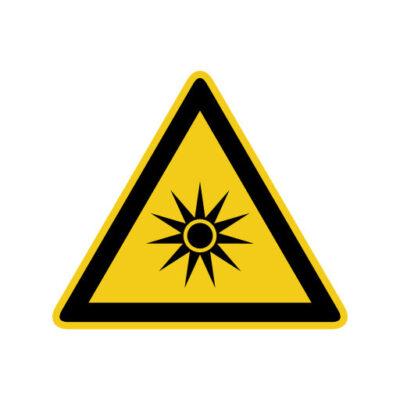 Optische Straling - waarschuwingssticker
