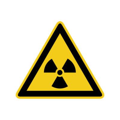 Radio Actieve Stoffen - waarschuwingssticker