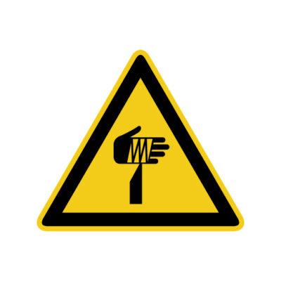 Scherpe Onderdelen - waarschuwingssticker