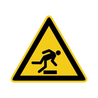 Struikelgevaar - waarschuwingssticker