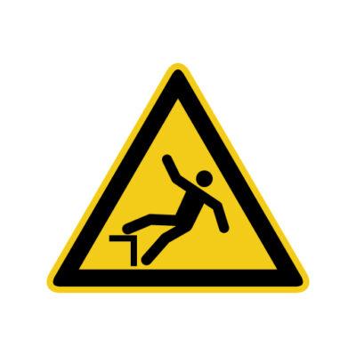 Valgevaar Hoogteverschil - waarschuwingssticker